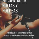 Ecuentro Poetas y Poetisas |  25 de septiembre 2020